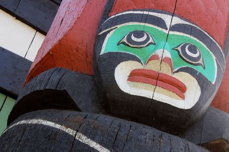 first nations: First Nations Totem Pole in Victoria, British Columbia, Canada