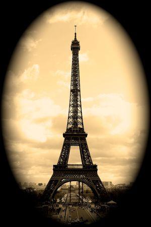 la tour eiffel: Eiffel Tower Vignette, Paris, France
