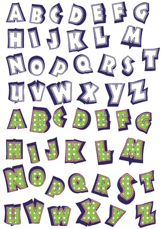 alphabetical order: funny script make a festive mood to your text