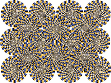 colored circles represent the effect of motion Vector