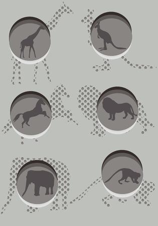 constitute: Various wild animals constitute the background of the stylish design