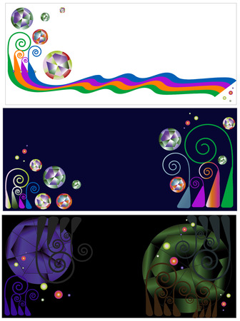 three beautiful banners of vaus designs and colors Stock Vector - 5311153