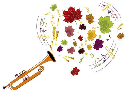soprano saxophone: instrumento musical interpretado por la caída melodía excelente Vectores