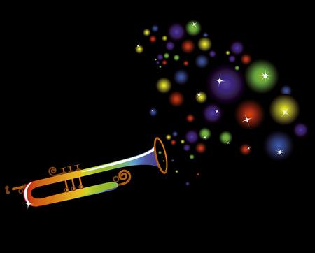 instruments de musique: instrument de musique joue une musique festive joyeuse sur un fond noir
