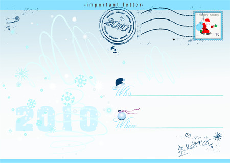 holiday postcard with snowflakes for your very kind letter Stock Vector - 5947630