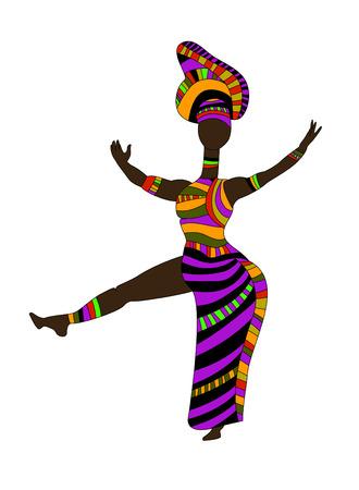 danza africana: donna in stile etnico divertente ballare il loro ballo tradizionale
