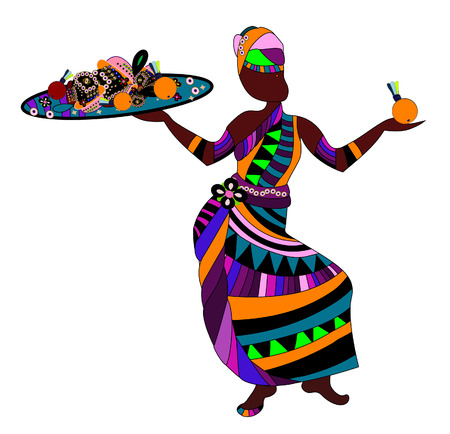 people in ethnic dress with an abstract delicious meal for you