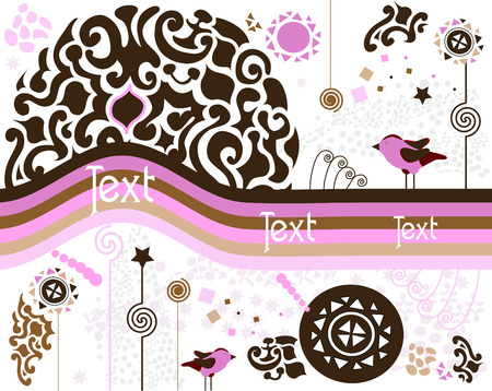 color abstract background of the various elements Stock Vector - 6055689