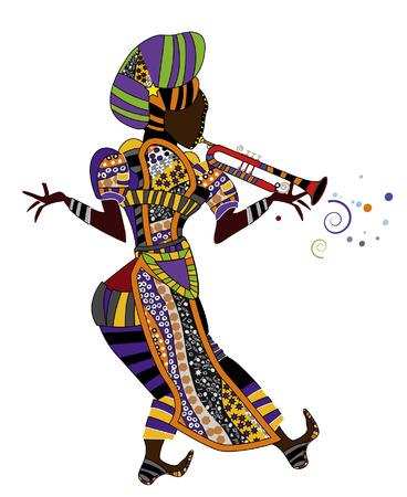 ethnic dress: persone in abito festivo � bella musica in stile etnico