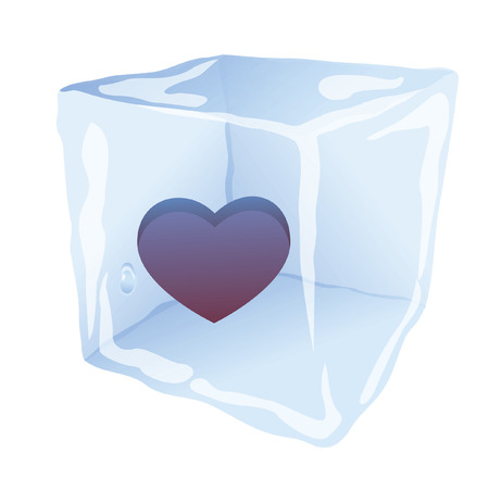 chills cube with a heart inside (love will melt all the ice!) Stock Vector - 6359648