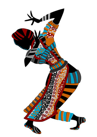 dexterity: beautiful women dance ethnic dance on a white background Illustration