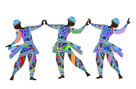 teatro antiguo: bella danza religiosa interpretada por personas en estilo �tnico