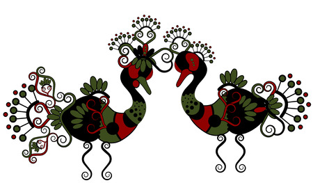 ethnics: ducks in ethnic style is a symbol of love