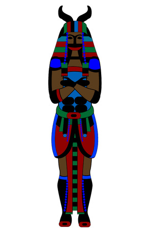kingdom of god: ancient Egyptian god on a white background