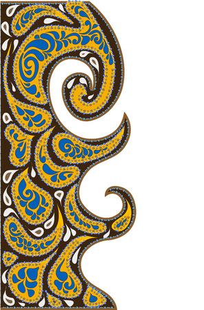 east indian: Fondo de los diversos elementos de estilo �tnico  Vectores