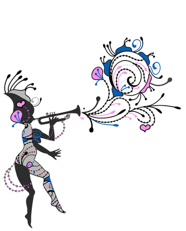 magical fairy from the various elements on a white background Vector