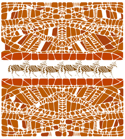 abstract background in ethnic style of the vaus elements Stock Vector - 8041557