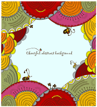 ethnics: cheerful abstract background of the various elements