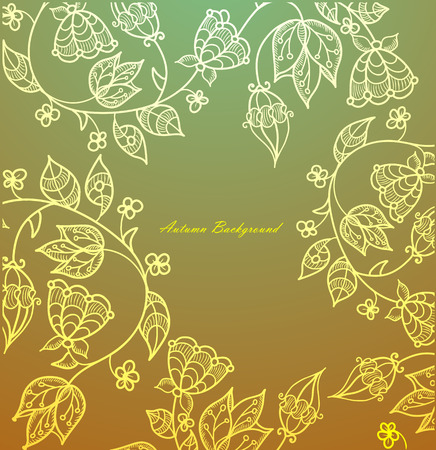 autumn background of the flowers in vintage style Stock Vector - 8077504