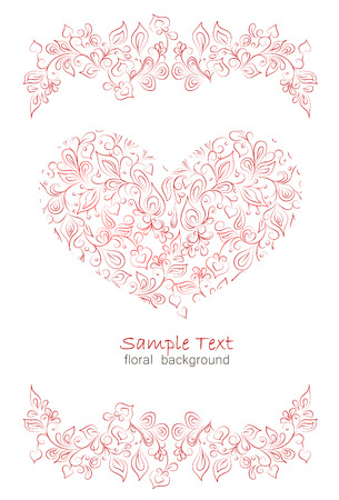 background of the various elements in the romantic style Vector