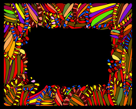 color and bright frame of the various elements Vector