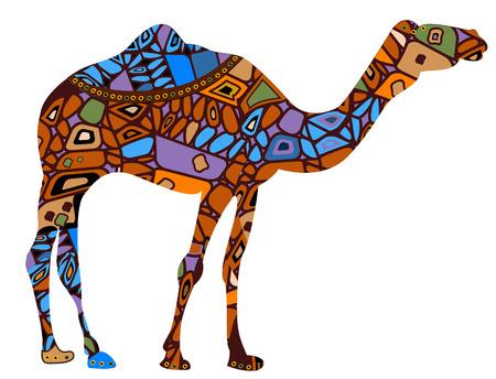Camel in de etnische stijl is een symbool van zakelijk succes