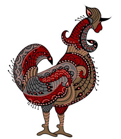 folk culture: Gallo de los diversos elementos en el estilo �tnico