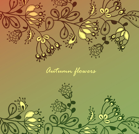 beautiful autumn colors of the various elements create an expressive background Vector