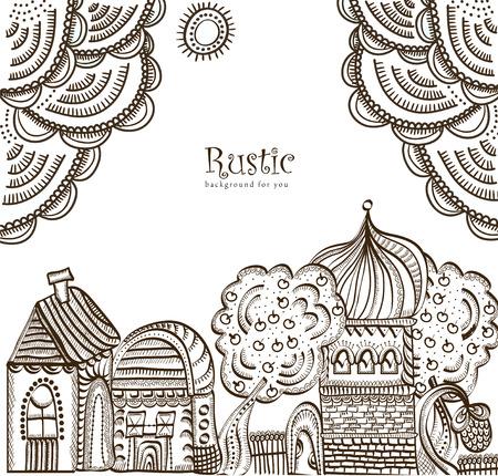 ethnics: sfondo in stile etnico dei vari elementi Vettoriali