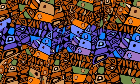 abstract background in the African style of the various elements Illustration