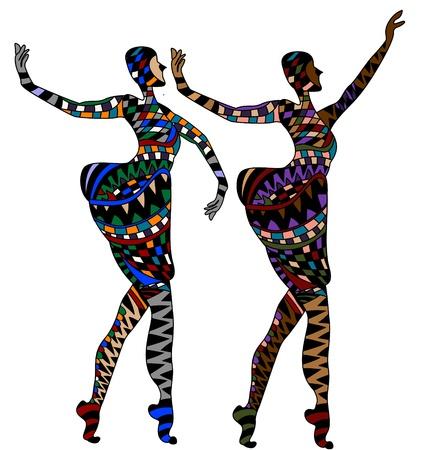 women dancing in a cabaret Vector