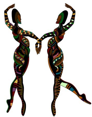 danza africana: personas en el estilo étnico de la danza para usted