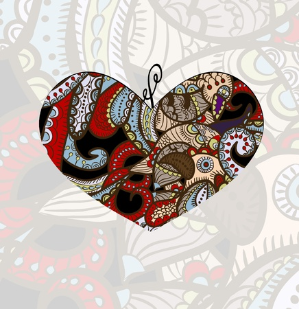 ethnics: beautiful abstract background with heart! Illustration