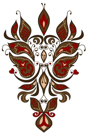 henna pattern: pattern of different elements in the Slavic style