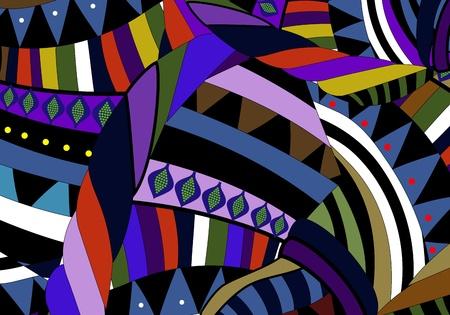 ethnics: abstract background in stile etnico dei vari elementi