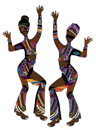 Mensen in etnische stijl dance funny dance