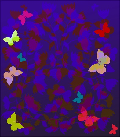 summer background with butterflies and flowers Stock Vector - 12136777