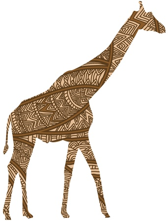 ethnic giraffe is a symbol of beautiful africa Vector