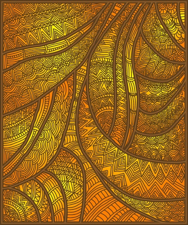 henna pattern: beautiful patterned ethnic background of the various elements Illustration