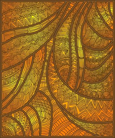 east indian: hermoso fondo modelado �tnica de los diversos elementos Vectores