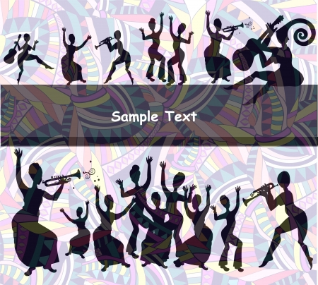 merry festive background of the vaus elements Stock Vector - 17777123