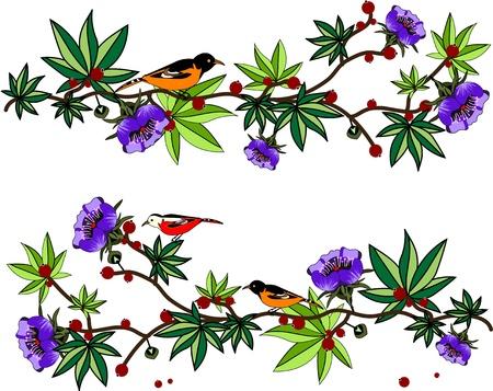 birds and berries Stock Vector - 17777125