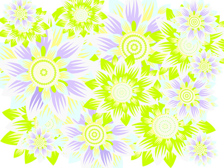 fragrant: delicate flowers of the various elements of pastel colors