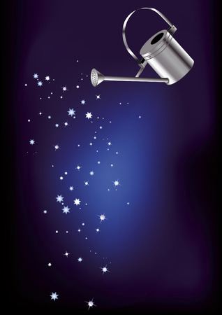 starfall: magic watering can watering the stars from the sky