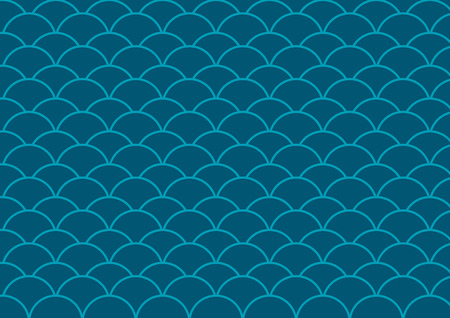 seamless pattern blue wave vector background Illustration