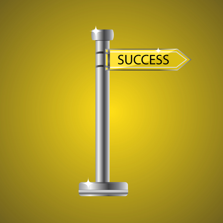 guidepost vector illustration way to success
