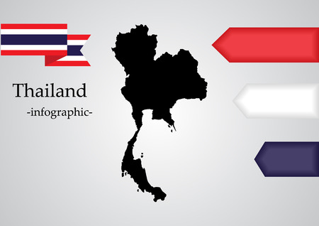 thailand map for infographic elements Illustration