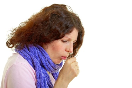 Young woman with brown hair has a flu Stock Photo - 14179019