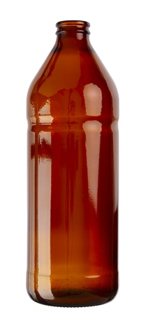 dff image: Empty cooking oil glass bottle isolated on white background. 2 images stitched - original size, DFF image, Adobe RGB