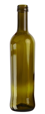 focus stacking: Empty cooking oil glass bottle isolated on white background. 2 images stitched - original size, DFF image, Adobe RGB